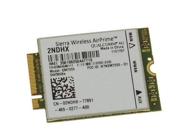 Dw5808e ssea para dell wireless 4g/lte qualcomm wwan tarjeta ngff mc7355 2 ndhx