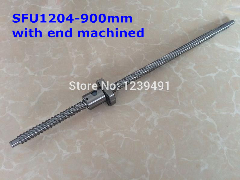 sfu1204- 900mm ballscrew  + Ballnut with  BK/BF10 standard processing cnc parts шкаф роникон бостон 1100 2 дуб сонома дсп дсп