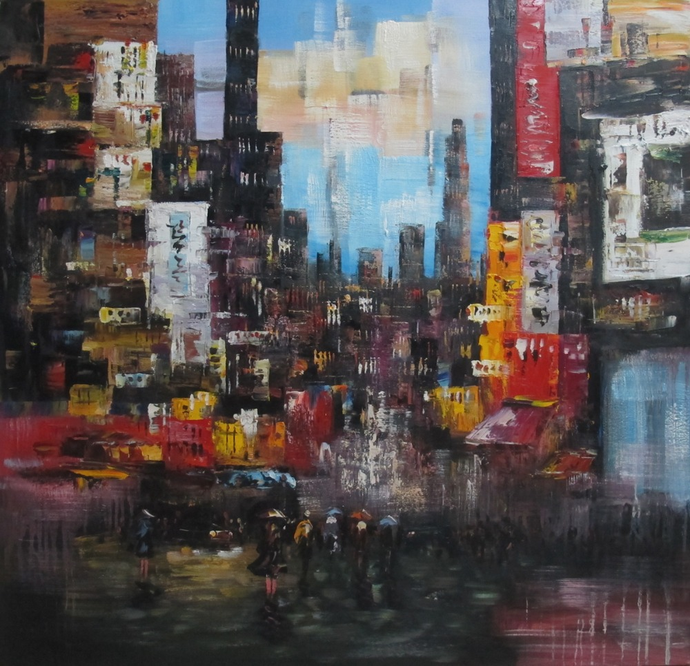 Watercolor New York: Hand Painted Impression Oil Painting New York City