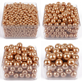 Oro ronda de perlas de plástico imitación 6mm-28mm recta agujeros cuentas de Perlas Para La Joyería de DIY Granos de Los accesorios y Jewelry Making A30
