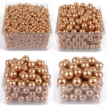 gold round imitation plastic pearl 6mm-28mm straight holes Pearl Beads For DIY Jewelry accessories Beads & Jewelry Making A30