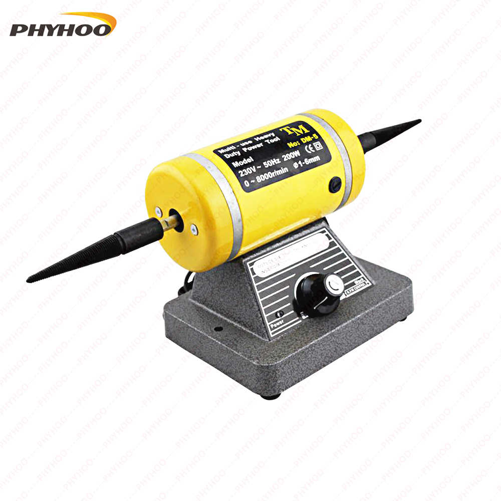 220V Adjustable Speed Grinding & Polishing Machine Included Two Buffing Wheel,Jewelry Making Supplies Polishing Motor