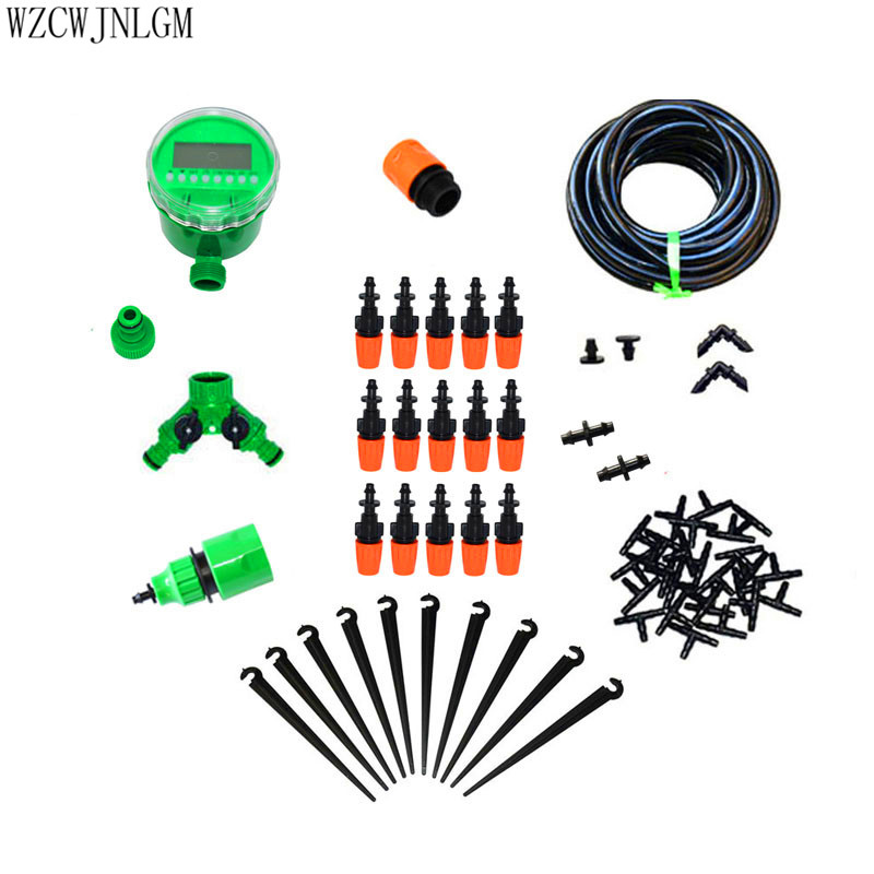Garden Irrigation 25m DIY Mini Drip Irrigation System Factory Automatic Watering Timer Garden Hose Kit with