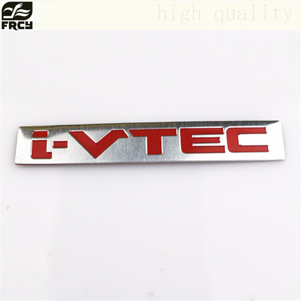 Aluminum i-VTEC iVTEC Sticker For Honda City CR-V XR-V HR-V Accord FIT Odyssey Stream Crider Greiz CIVIC Elysion Spirior Jade новый генератор подходит для honda accord odyssey 2 3l f20b 2 0l oem 31100 p5m 0030