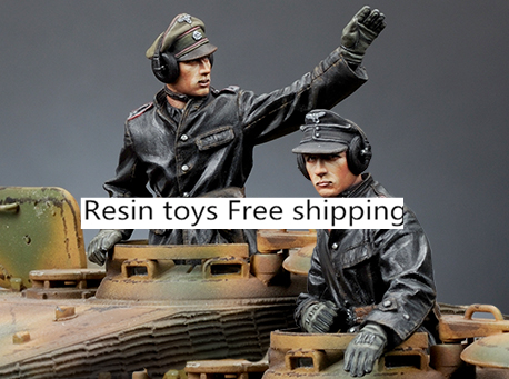 купить pre order-Resin toys 35174 SS Panzer Commander Set (2 Figures) Free shipping недорого