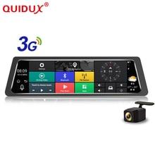 QUIDUX Android 5.0 Car DVR 10 inch Rearview Mirror GPS Navigator Wifi Dash Cam In Car Video Camera Full HD Dual Lens MCCD camera