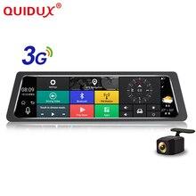 Quidux Android 5.0 Видеорегистраторы для автомобилей 10 дюймов Зеркало заднего вида GPS навигатор Wi-Fi регистраторы в автомобиле видео Камера Full HD Двойной объектив mccd камера