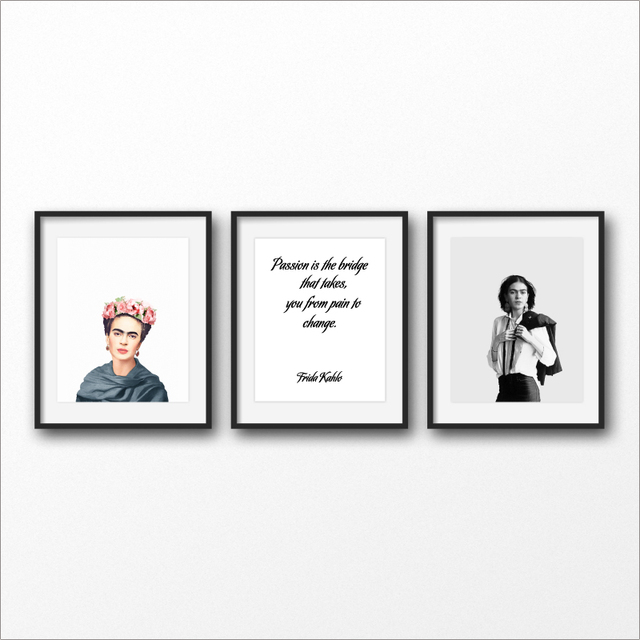 Fridaaa Kahlo Poster Art Prints Passion Quotes Canvas 1
