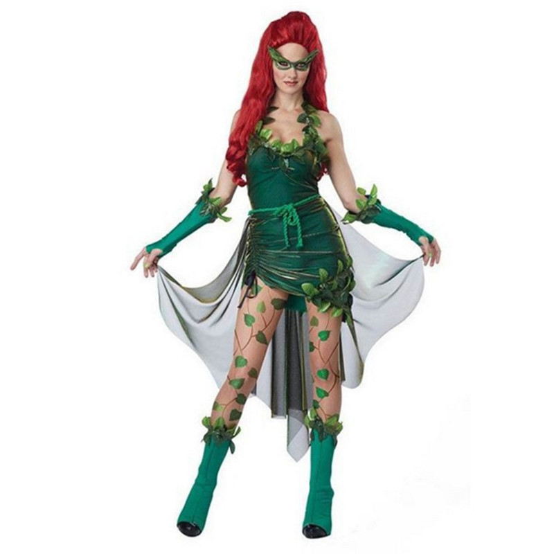 2017 sexy green wizard dress halloween costumes for women animation clothing womens cosplay halloween adult costume - Green Halloween Dress