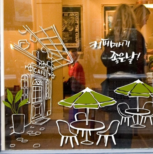 Casual cafe cafe restaurant backdrop retro shop window stickers affixed glass paste in wall stickers from home garden on aliexpress com alibaba group