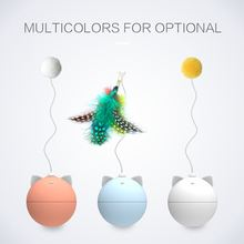 2019 New Pet Cat Toy Colorful Light Ball Automatic Rolling for Cats