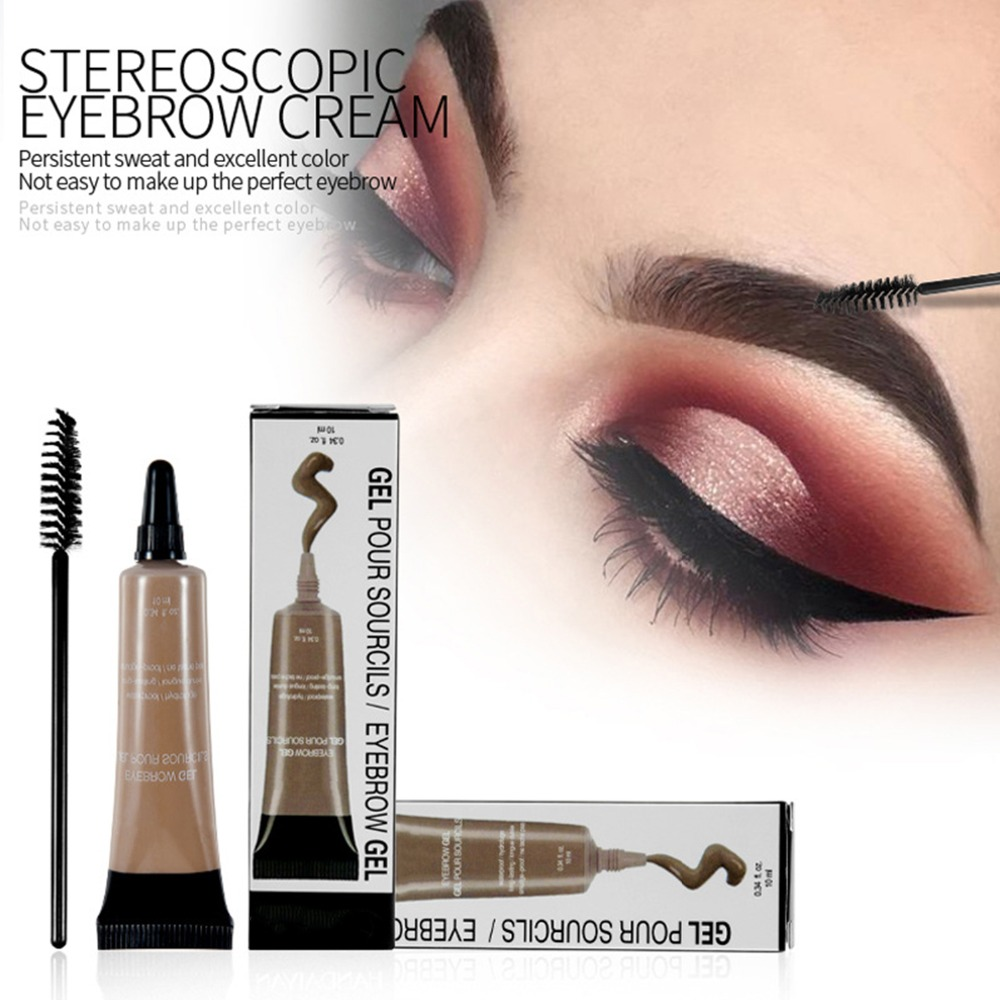 a0ff9a202 Professional Eyebrow Gel 6 Colors High Brow Tint Makeup Eyebrow Brown Eyebrow  Gel With Brow Brush Tools 10 ML