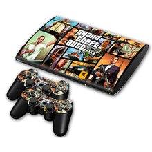 Grand Theft Auto Adhesivo de Vinilo Para Sony PS3 Super delgado 4000 de La Consola y 2 Controller Skins Cubierta Controle Gamepad piel