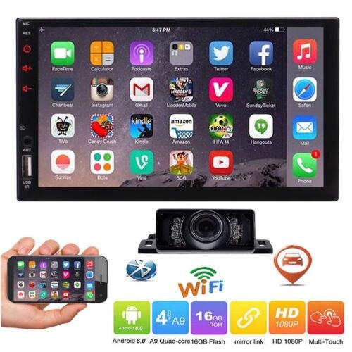 Двойной 2 Din в тире головное устройство Универсальный Android 6,0 Marshmallow стерео радио gps Navi 7 ''сенсорный экран MP5 плеер USB вход