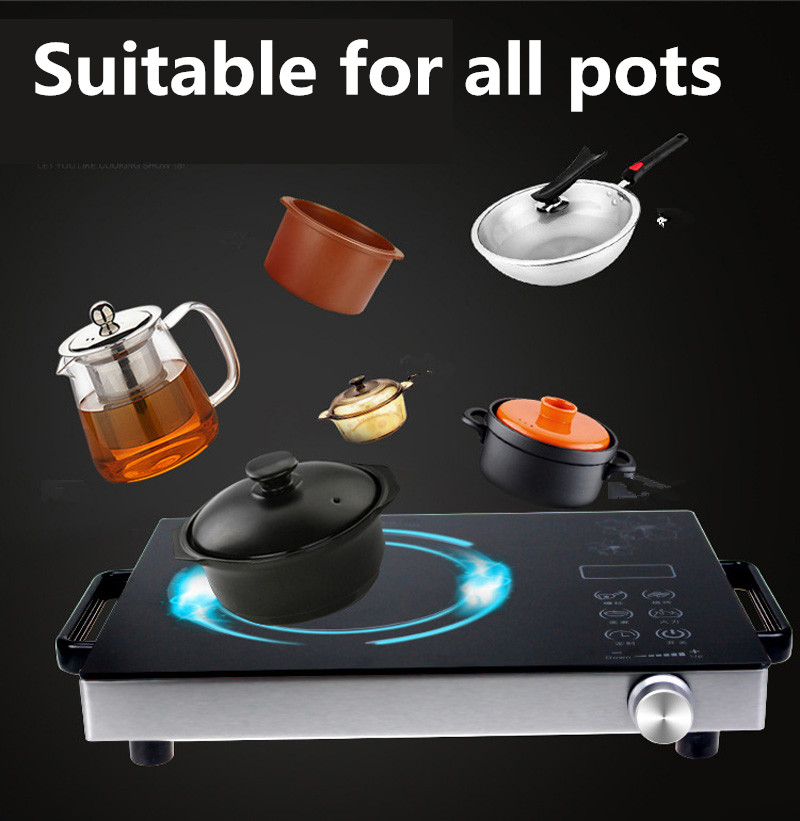household stainless steel electric induction cooker cooktop stove cookwarehob 220v 2000w