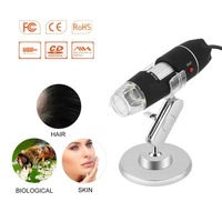 Czarny praktyczne elektronika 5MP USB 8 LED aparat cyfrowy mikroskop endoskop lupa 50X ~ 500X powiększenie środek w Mikroskopy od Narzędzia na