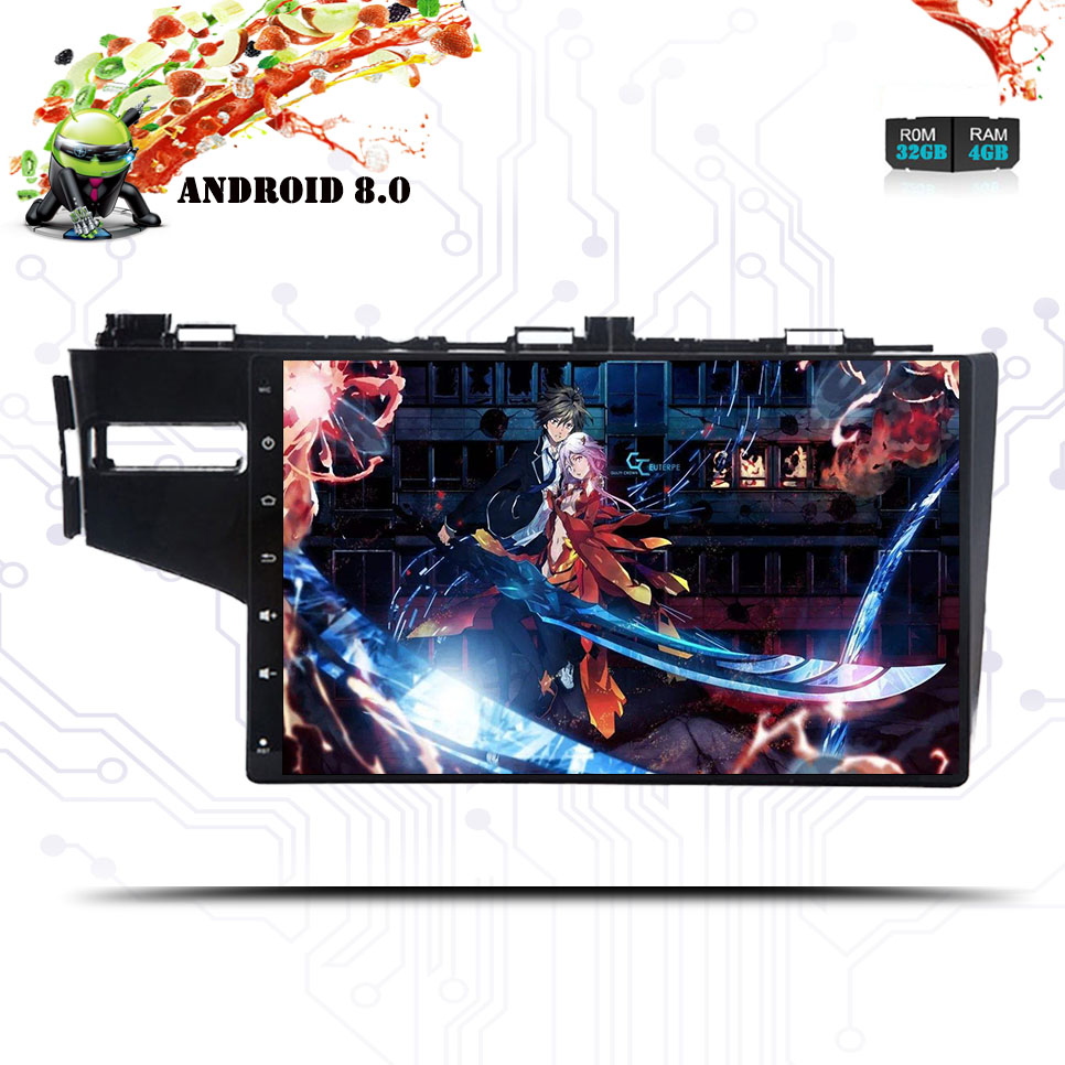 10 1 ips android 8 0 car dvd multimedia player gps for honda fit jazz 2014 2015 16 18 audio radio stereo navigation head unit [ 966 x 966 Pixel ]