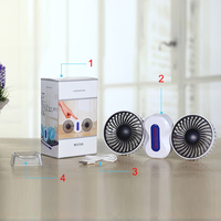 2 Motores de Parejas de Verano Aire Acondicionado Ventilador Recargable Li Batería de Aire Acondicionado Ventiladores Ventilador Portátil Mini Ventilador USB