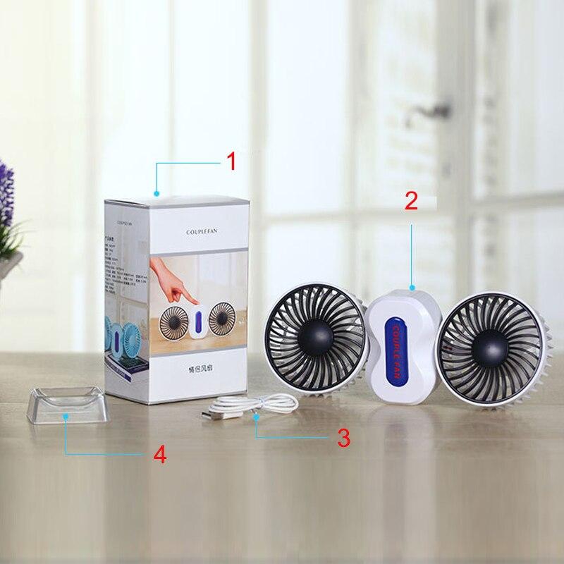 2 Motors Summer Couples <font><b>Air</b></font> Conditioner Fan Rechargeable Li Battery <font><b>Air</b></font> <font><b>Conditioning</b></font> Ventilador Fans <font><b>Portable</b></font> Mini USB Fan