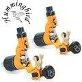 Pro 2 pcs Gold Hummingbird V2 Original Swiss Motor Rotary Tattoo Machine Gun kit liner shader for cord
