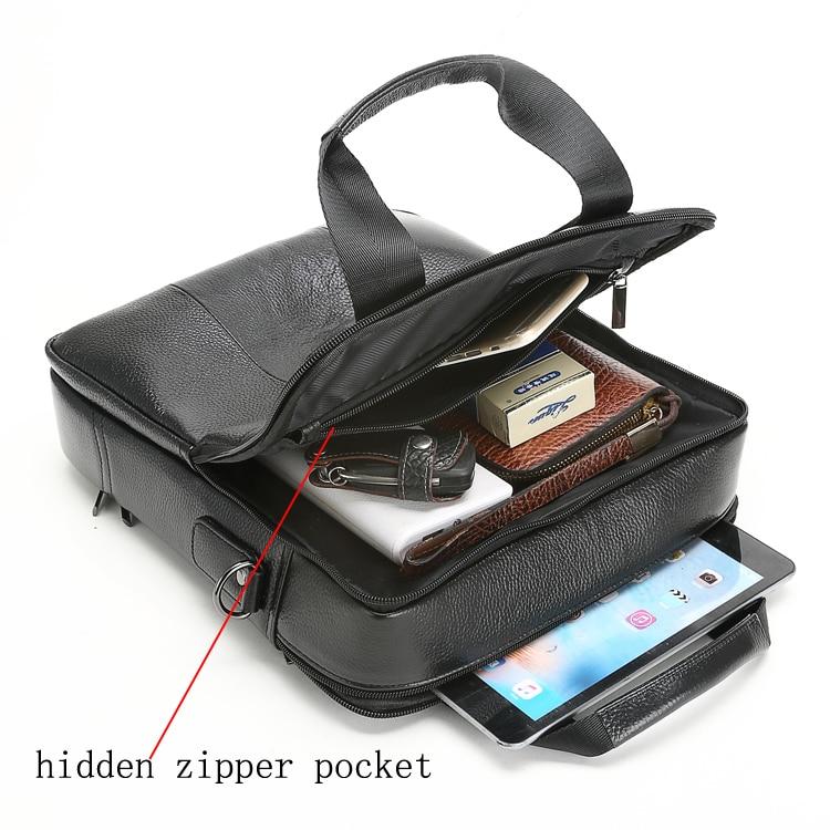 HTB17SedkiMnBKNjSZFoq6zOSFXay MEIGARDASS Genuine Leather Business Briefcase Men Travel Shoulder Messenger Bags Male Document Handbags Laptop Computer Bag
