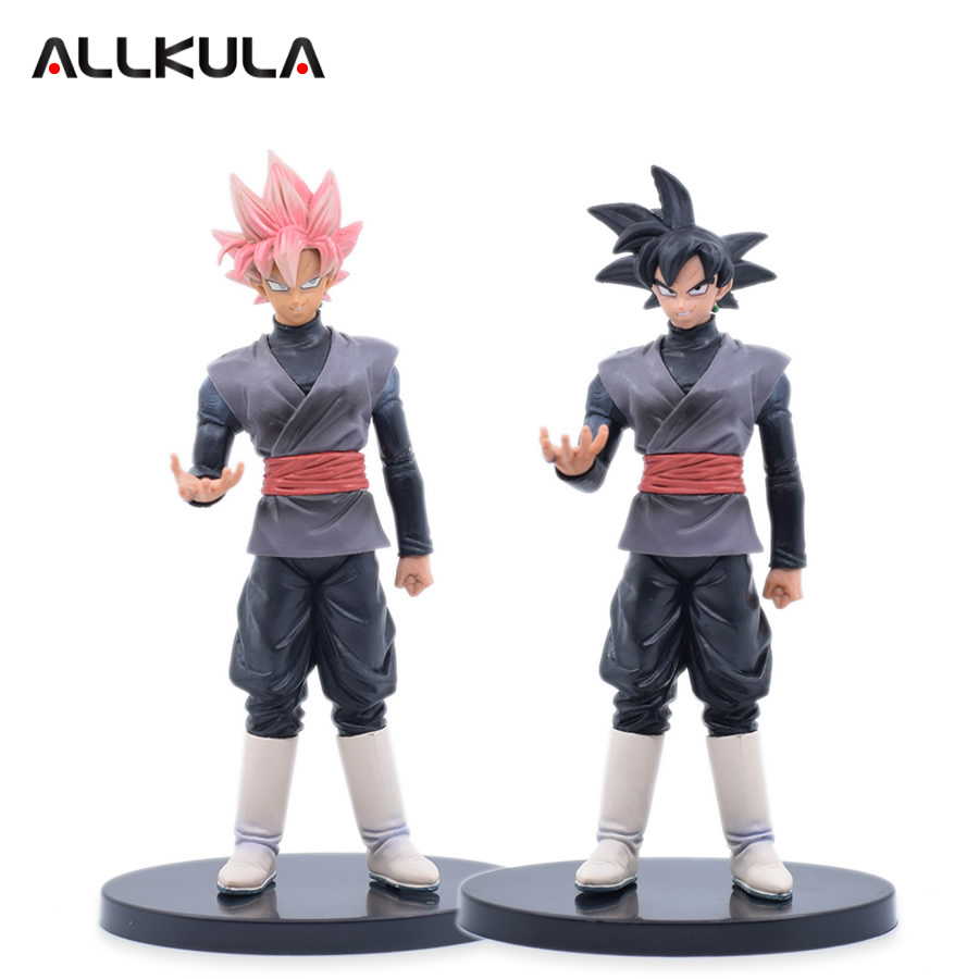 22cm Dragon Ball Z Super Saiyan  Rose and Black Goku Action Figure PVC Collectible Model Toy chris wormell george and the dragon