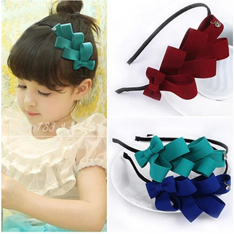 1pcs 2016 children girl bow band baby girl headband kids headwear hair accessories