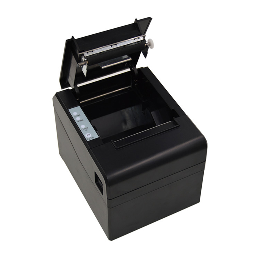 MHT-8330 Commercial Destop Receipt Thermal POS Printer With Serial/Ethernet/USB Three in One Ports gp u80300iv integrated thermal receipt printer serial usb 100m ethernat parallel usb interface compatible with esc pos emulation