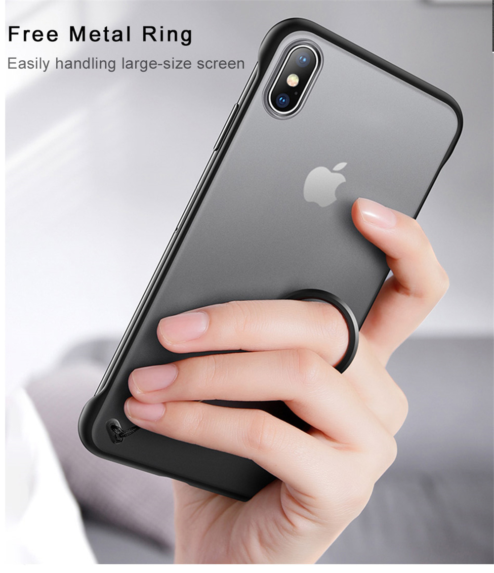 Thin phone case with ring