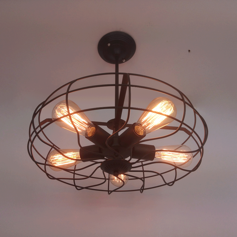 Industrial Black Metal Ceiling Light Vintage Fan Retro Ceiling Lamp E27 Edison Bulbs Holder For Loft Dining Room Bar Bedroom lamp folding wall flex led edison industrial retro loft light vintage dining room bar edison vintage bedroom dining room