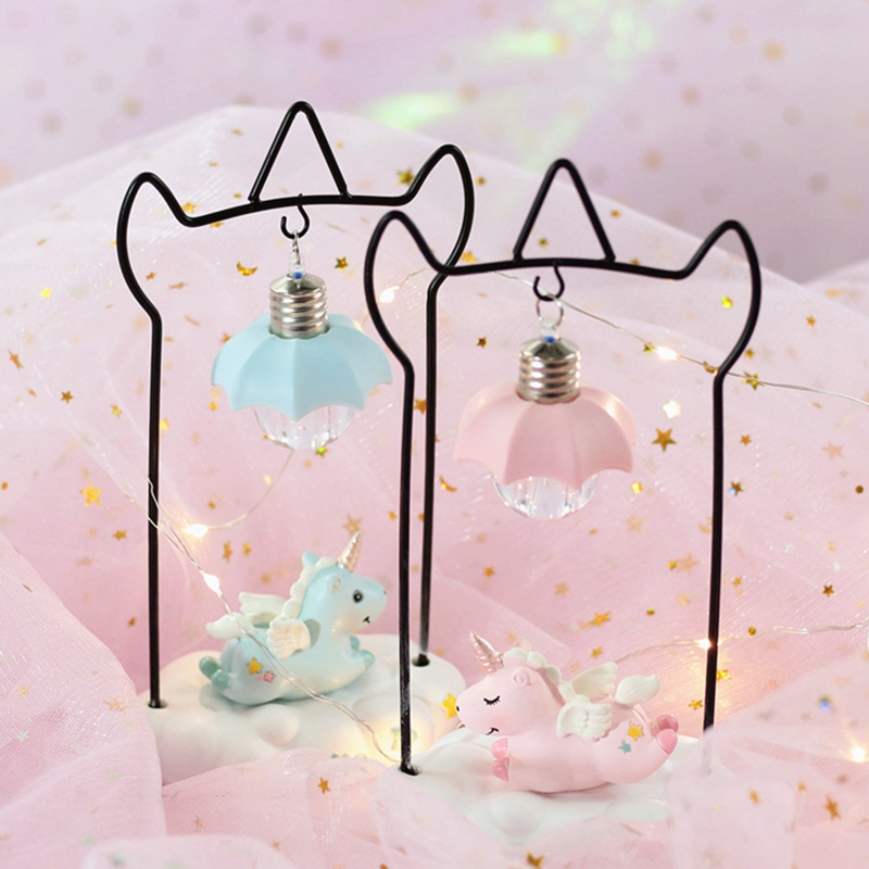 Cartoon Unicorn Resin LED Night Light Girls Room Decoration Lamp Bedside Lamp For Baby Kids Christmas New Year Birthday Gift (6)