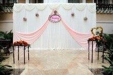 Simple Wedding Backdrop WhiteCurtain Backdrop Wedding Backdrop Drape Party Decoration Supplies 10FTX20FT