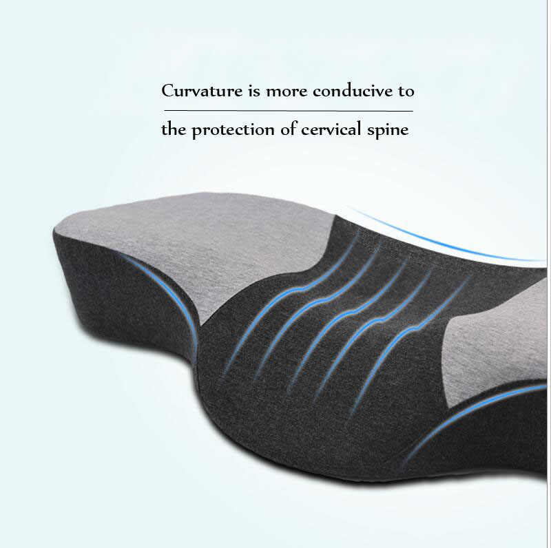 Cervical Pillow Contour Memory Foam Orthopedic Pillow for Neck Pain Sleeping Cervical Spine Repair Pillow