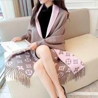 2018 Autumn New Women's Elegant Tassel Wrap Swing Cardigan Knitted Oversized Sweater Scarf Cape Poncho Long Cardigan Winter