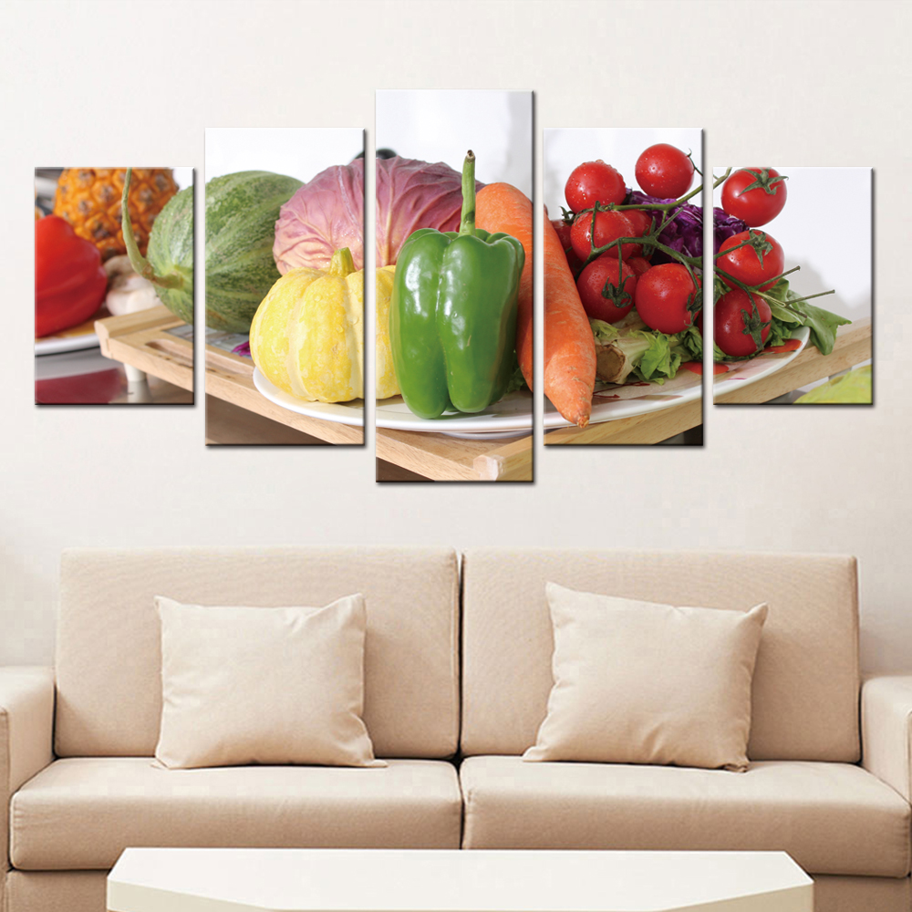 Best Kitchen Gallery: Vegetable Pictures Modern Home Decoration Poster Wall Art For of Modern Art For Kitchen on rachelxblog.com
