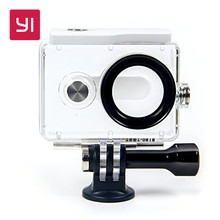 YI Waterproof Case White and Green for YI 1080p Action Camera