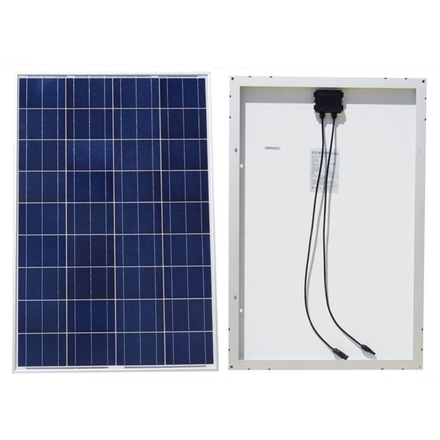 DE Stock No Tax 100W 18V Polycrystalline Solar Panel for 12v Battery off Grid System Solar for Home System Free Shipping