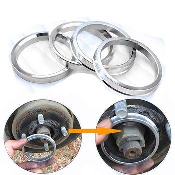 Anillos centricos de cubo de rueda de 4 piezas espaciador aleación de aluminio OD = 81,1mm ID = 71,1mm