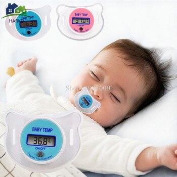 Termómetro Digital para pezón para bebé chupete de silicona médico termómetro LCD para cuidado de la salud para niños