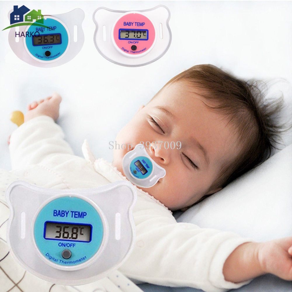 Baby Digital Nipple Thermometer Medical Silicone Pacifier LCD Children's Thermometer Health Safety Care Thermometer For Children