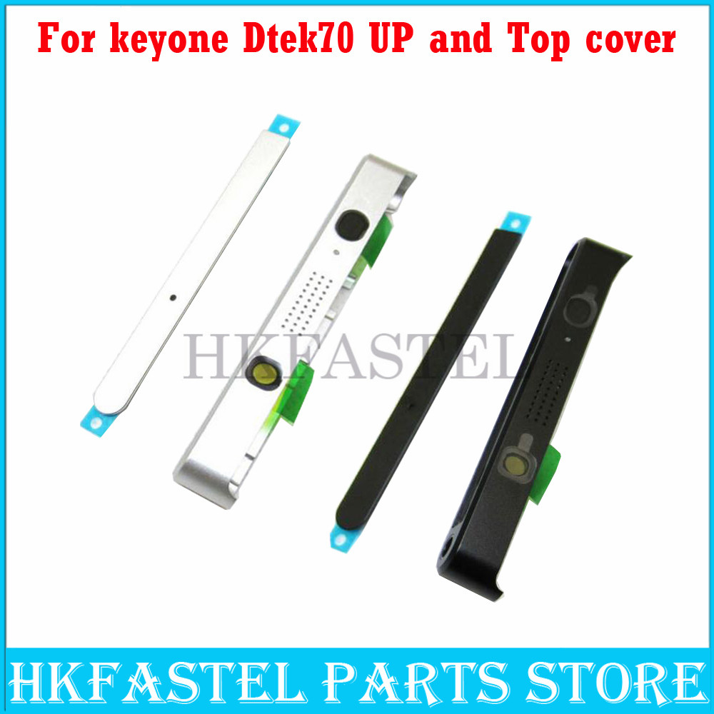 HKFASTEL For BlackBerry Keyone Dtek70 Original Mobile Phone UP And Top Housing Plug Cover Case  Free Shipping