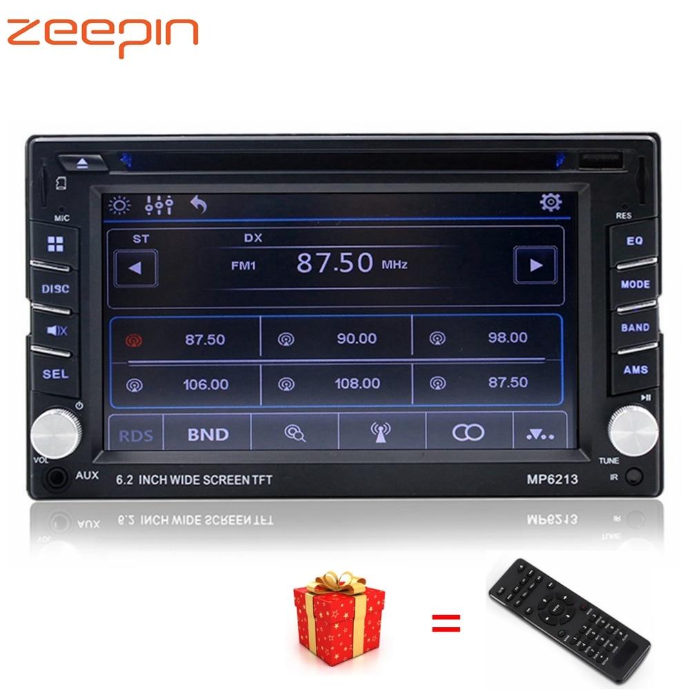 Универсальный Автомобильный мультимедийный dvd-плеер видео Выход Bluetooth FM Авто радио тюнер с пультом Управление сабвуфер музыка MP3 CD Play