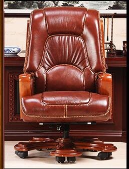 Boss chair. Real leather chair. Can lie massage solid wood chair. 25 the boss chair is real leather the home can be massaged leather big class chair seat computer chair