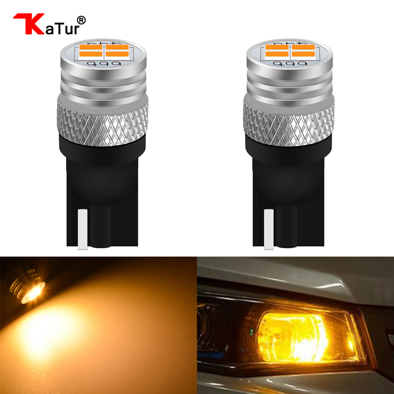 Katur <font><b>T10</b></font> W5W 168 <font><b>Led</b></font> Bulbs Interior Lighting Clearance Side Marker Lights License Plate Lamp 3020 Chip 450Lm <font><b>T10</b></font> 6000K <font><b>4300K</b></font> image