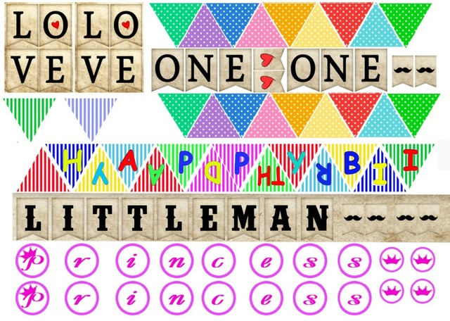 7x5ft princess littleman love you happy birthday banner custom photo studio backdrop background vinyl 220cm x