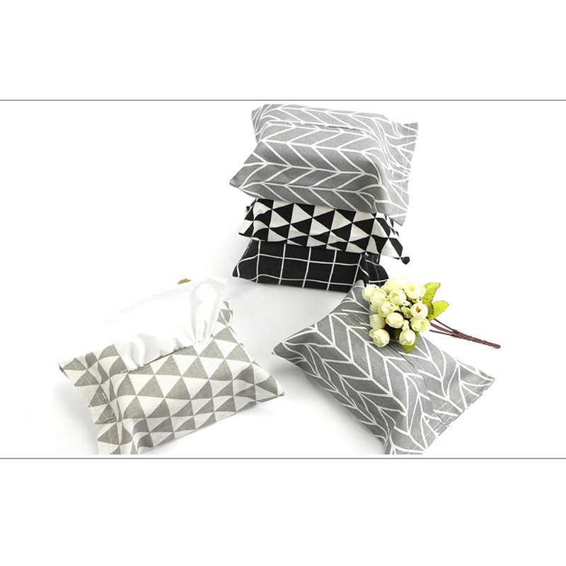 1 Pcs Caixa de Tecido de Linho Casa Cozinha Sala de estar QUENTE Saco Tampa de Papel Guardanapo Titular Tissue Caixas NDS66