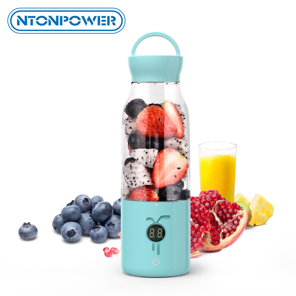 NTONPOWER Portable Juicer USB Rechargeable Blender multifunctional electric juicer Household Smoothie 450ML Fruit Mixer