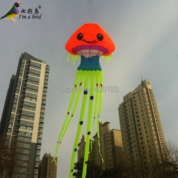 Free Shipping Outdoor Fun Sports  2015 NEW High Quality 8.5 m Power Jellyfish Software Kite Ripstop Nylon Fabric Good  Flying