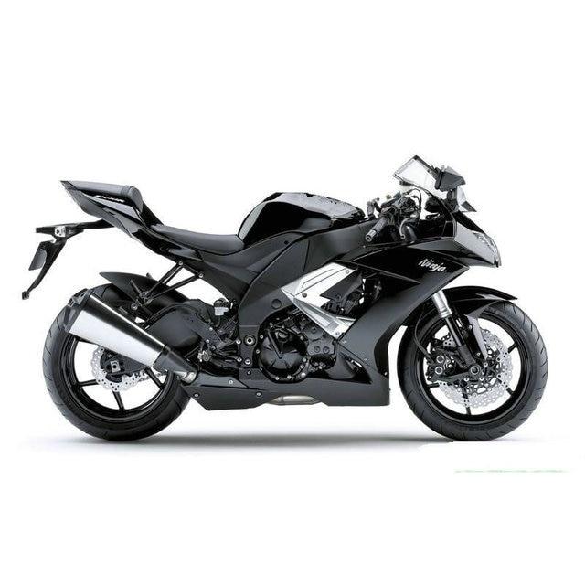High Quality ABS Motorcycle Road Fairing For 2008 2009 2010 Kawasaki ZX10R Matte Black Body Fairings