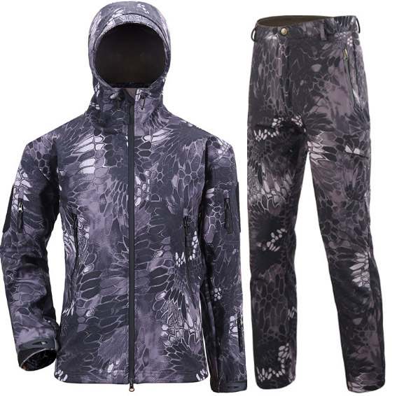 Military outdoors Winter Men's Army Suit Tactical SoftShell Hunting Jackets Waterproof Fishing Trousers Set Military coat Pants man new winter waterproof fishing trousers tactical softshell hunting outdoor jackets set army suit military pants